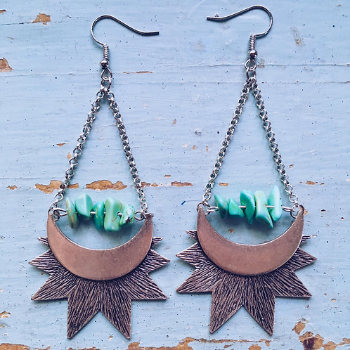Turquoise or Bust Earrings