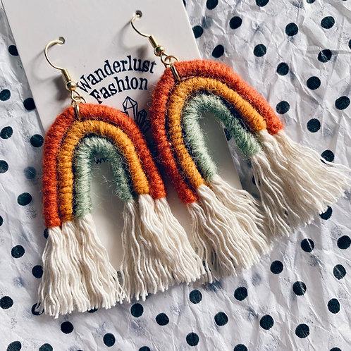 Fall Feels Rainbow Tassel Earrings