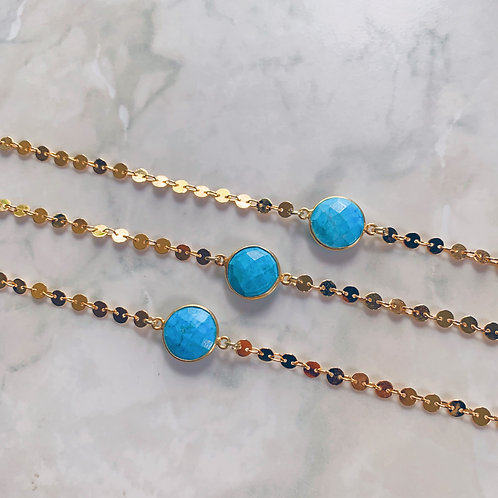 Turquoise Coin Choker