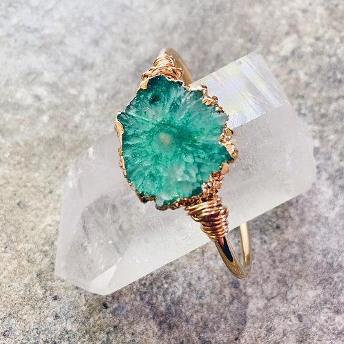 Green Geode Crystal Cuff