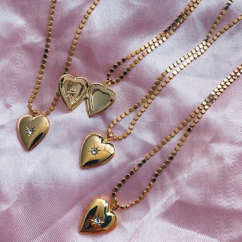 Gold Locket Necklace