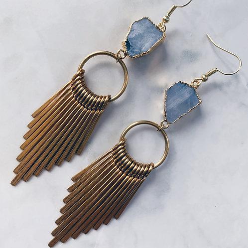 Opal Morning Moon Earrings