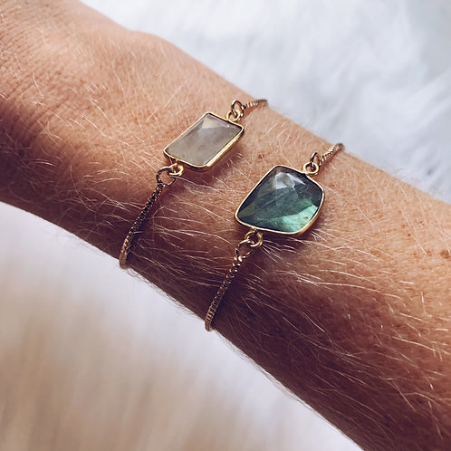 Adjustable Labradorite Bracelet