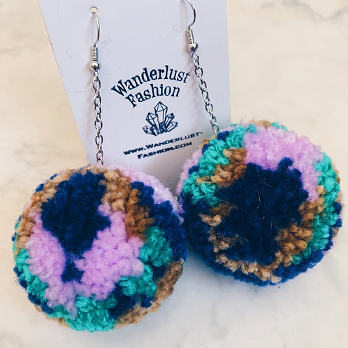 Spring Equinox Pom Pom Earrings
