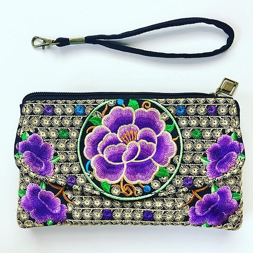 Blossom Clutch Wallet - Purple