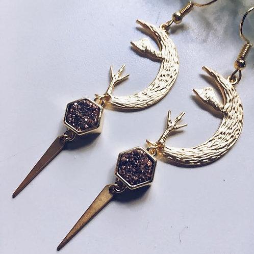 Desert Landscape Druzy Earrings