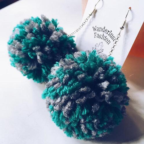 Wild Willow Pom Earrings