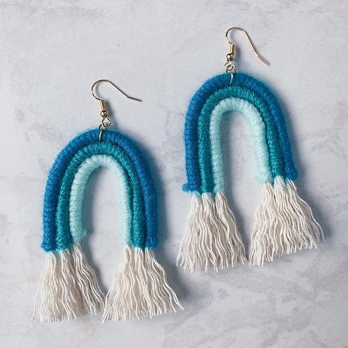 Shades of Blue Rainbow Earrings
