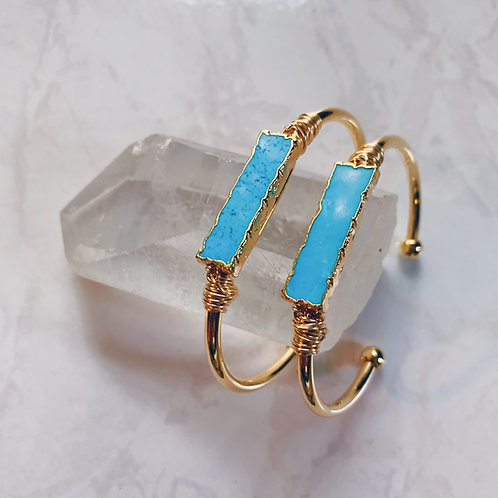 Turquoise Crystal Cuff