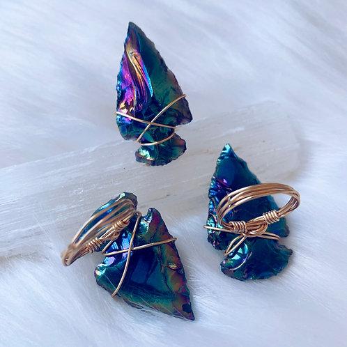Titanium Arrowhead Ring