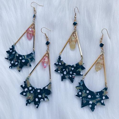 Cocoon Crystal Earrings