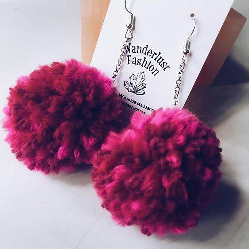 Purple Haze Pom Earrings