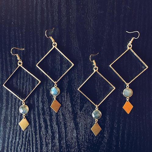 Labradorite Pendulum Earrings