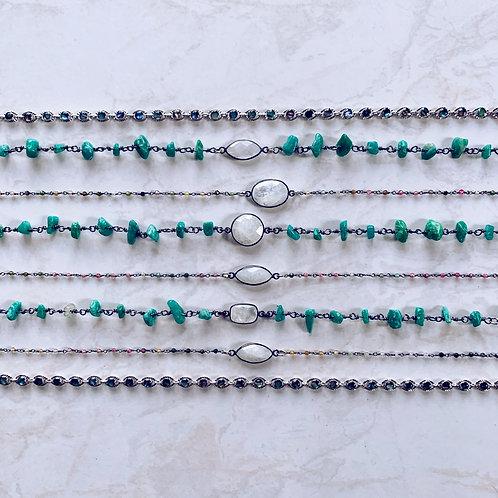 Moonstone Rosary Choker