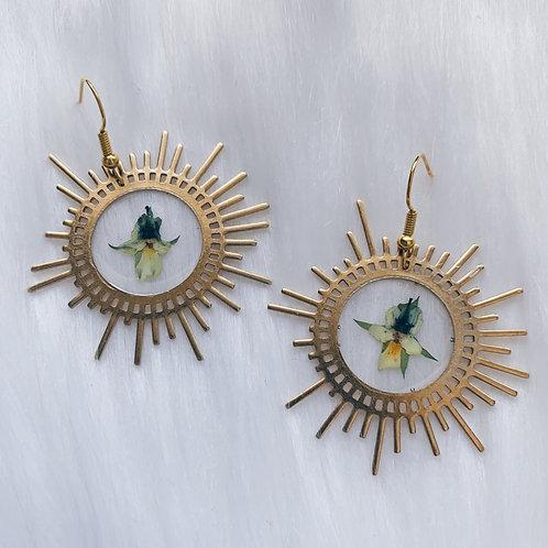 Flower & Sun Resin Earrings