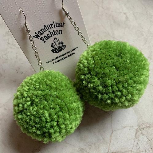 Avocado Pom Pom Earrings