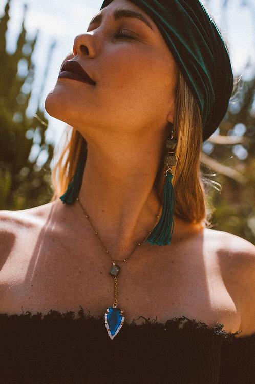 Pyrite Tassel Earrings