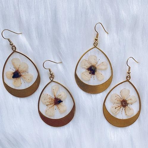 Cherry Blossom Resin Earrings