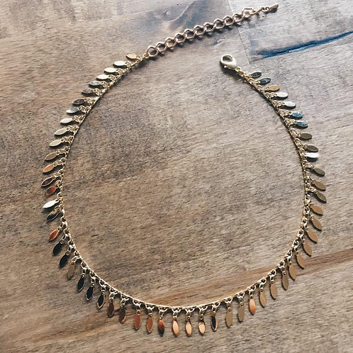 Golden Feather Stacking Choker