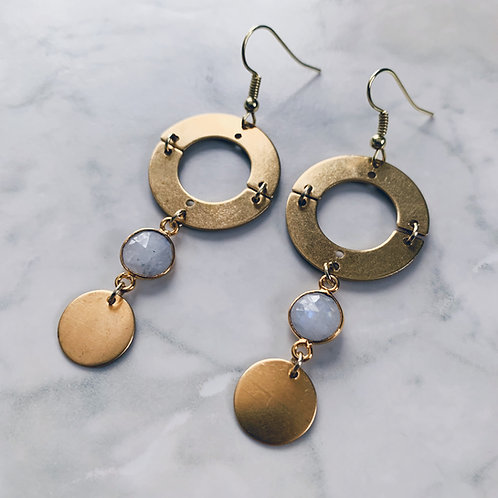 Moonstone Orbit Earrings