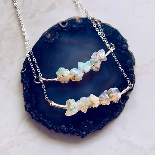 Opal Harmonies Necklace - Silver