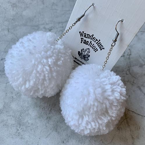 Snowball Pom Pom Earrings