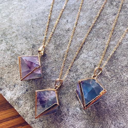 Fluorite Cube Necklace