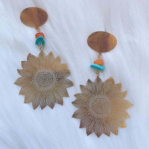 Sassy Sunflower Earrings
