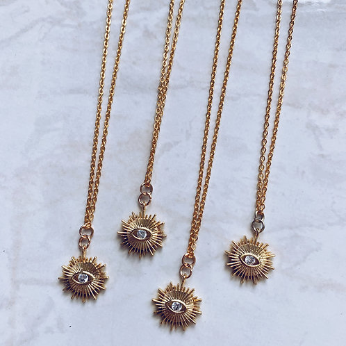 Solar Evil Eye Necklace