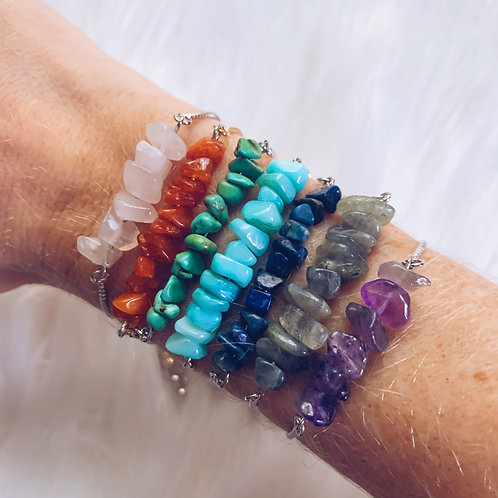 Adjustable Gemstone Bracelet