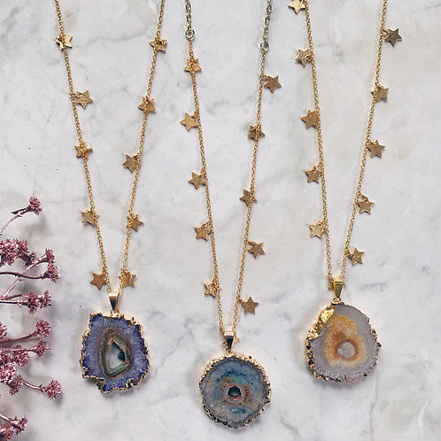 Galactic Geode Necklace
