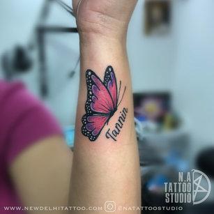 Butterfly-tattoo-by Megha @natattoostudio new delhi