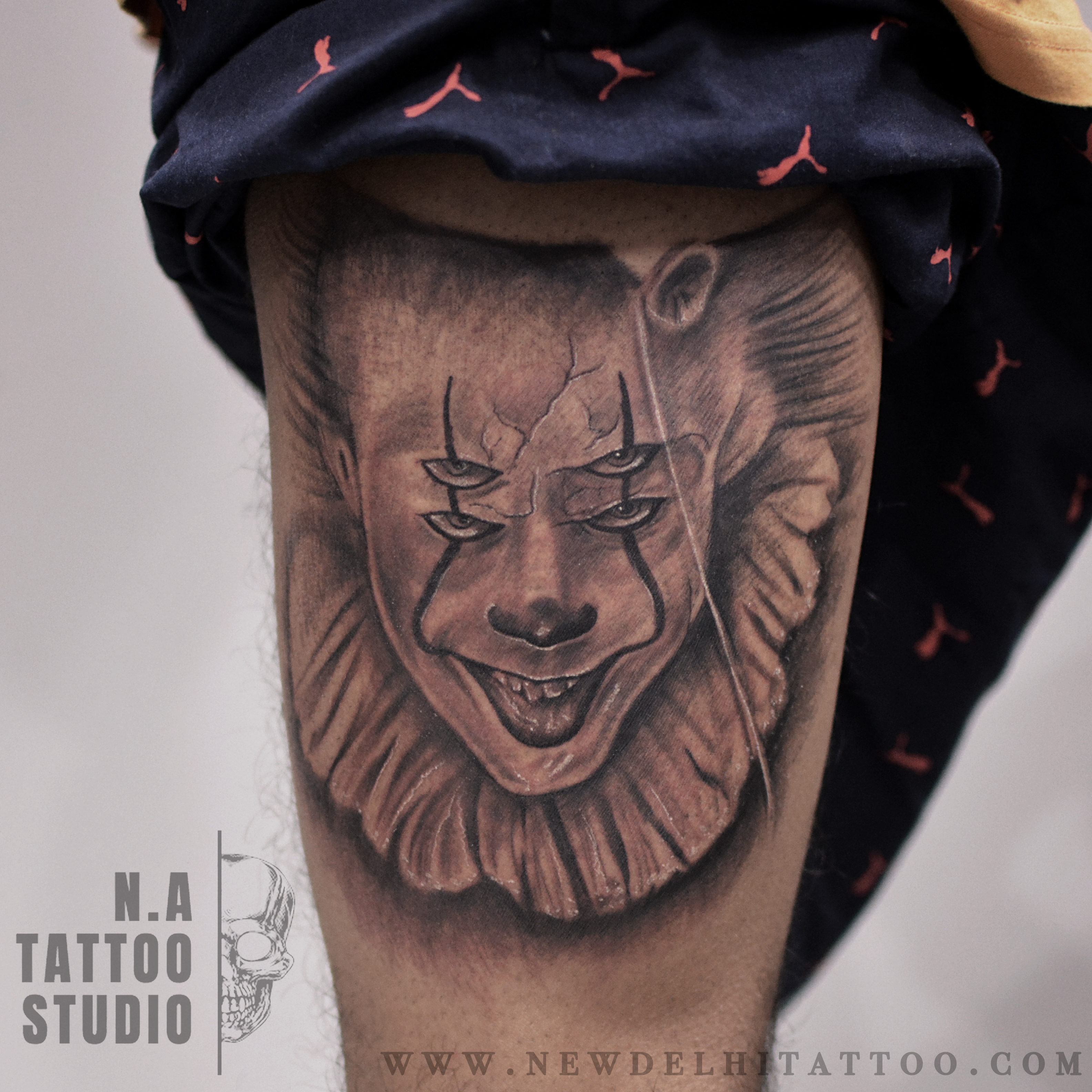 pennywise tattoo natattoostudio