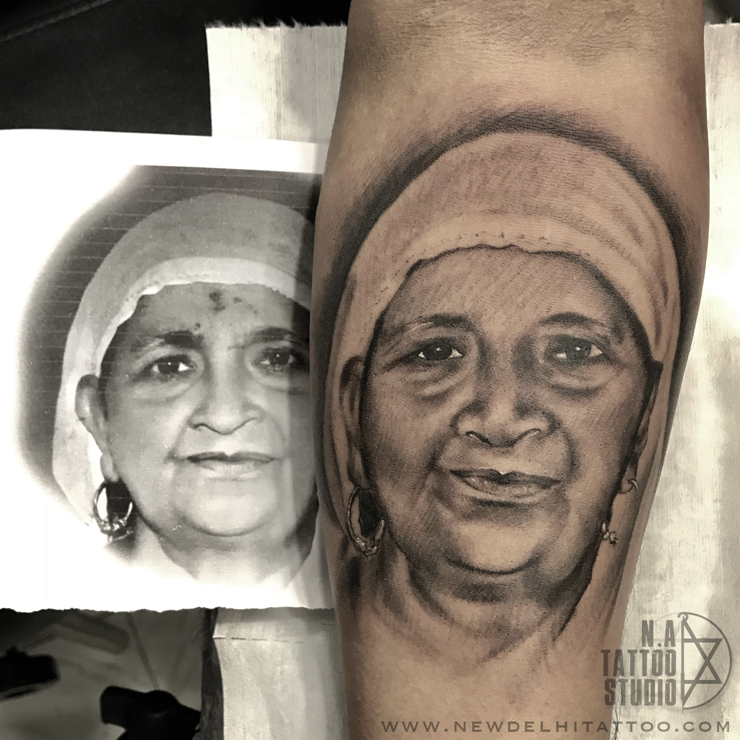 portrait tattoo by natattoostudio