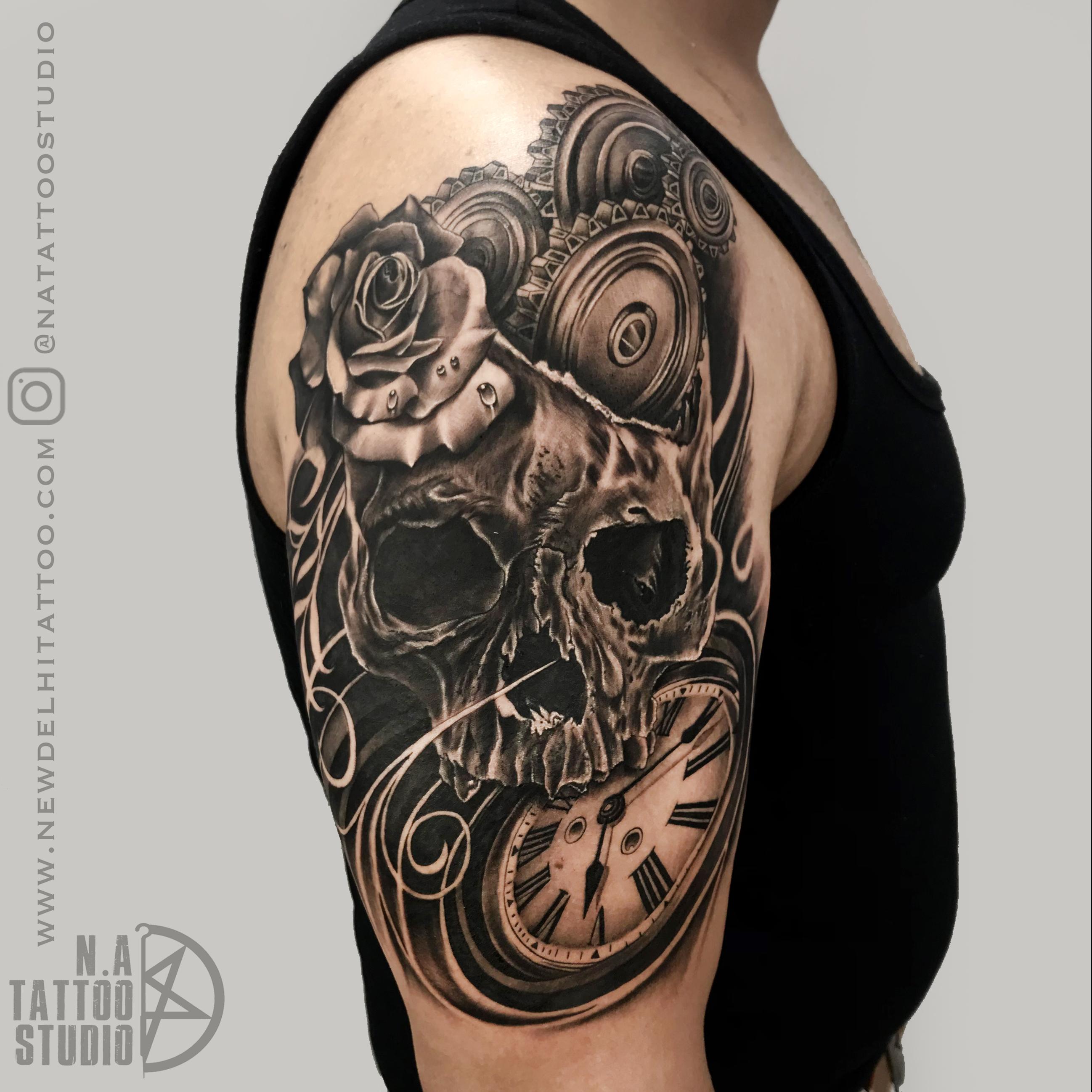 skull tattoo delhi