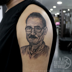 father portrait tattoo natattoostudio de