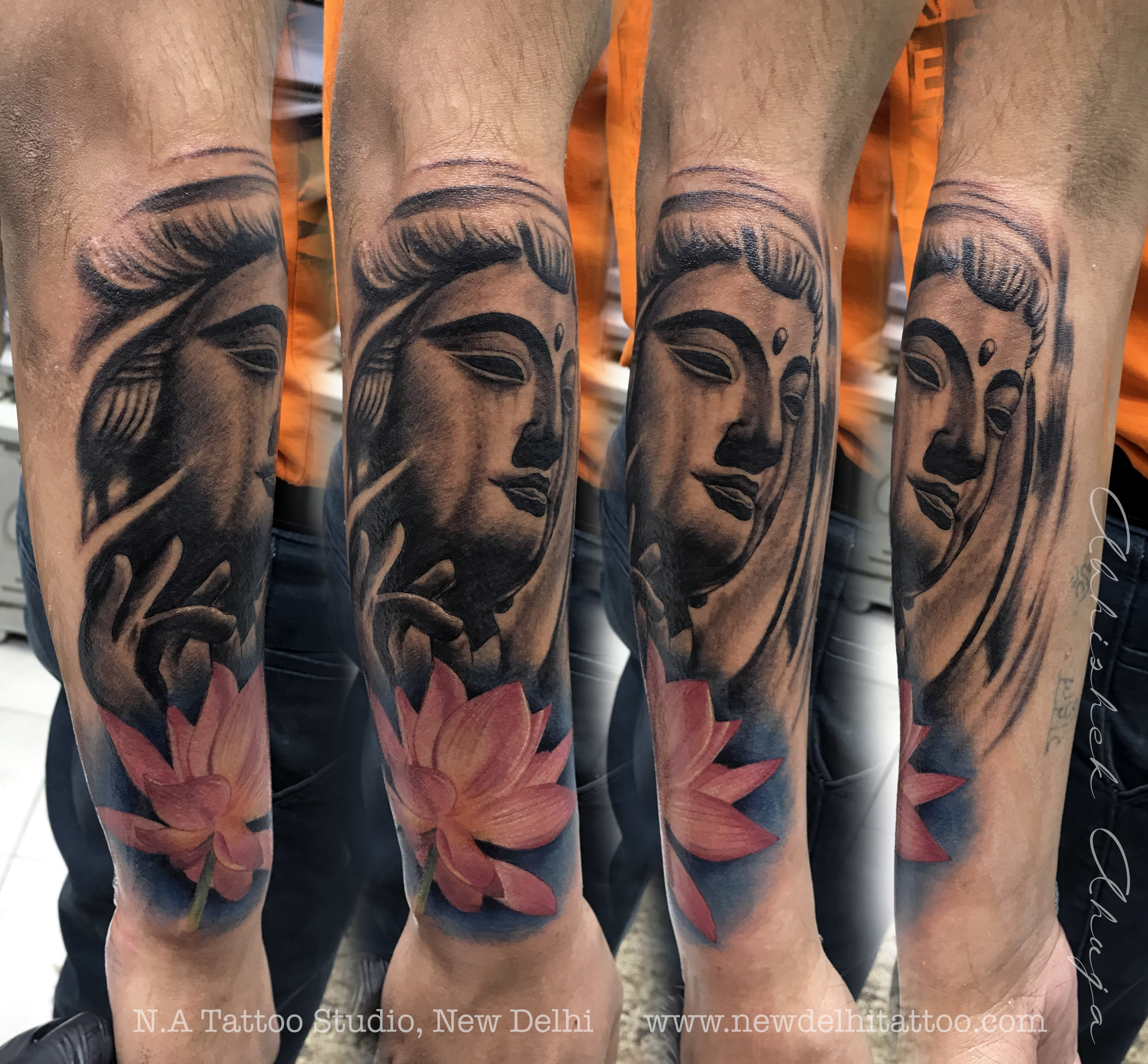 Buddha Lotus Tattoo New Delhi Tattoo