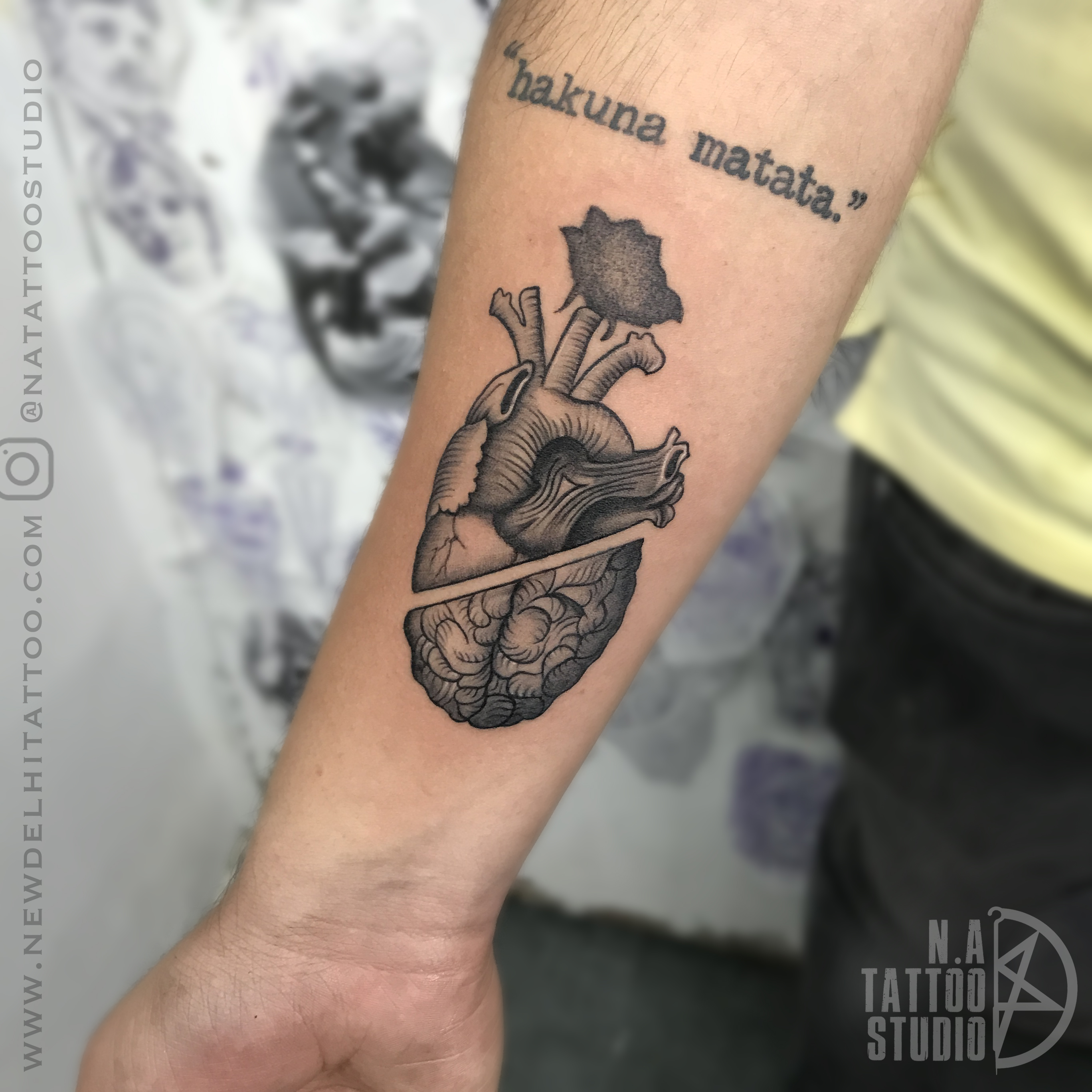 heart rose tattoo by megha
