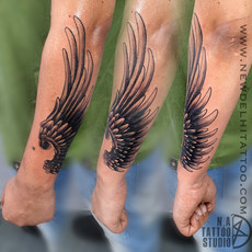 wings tattoo coverup
