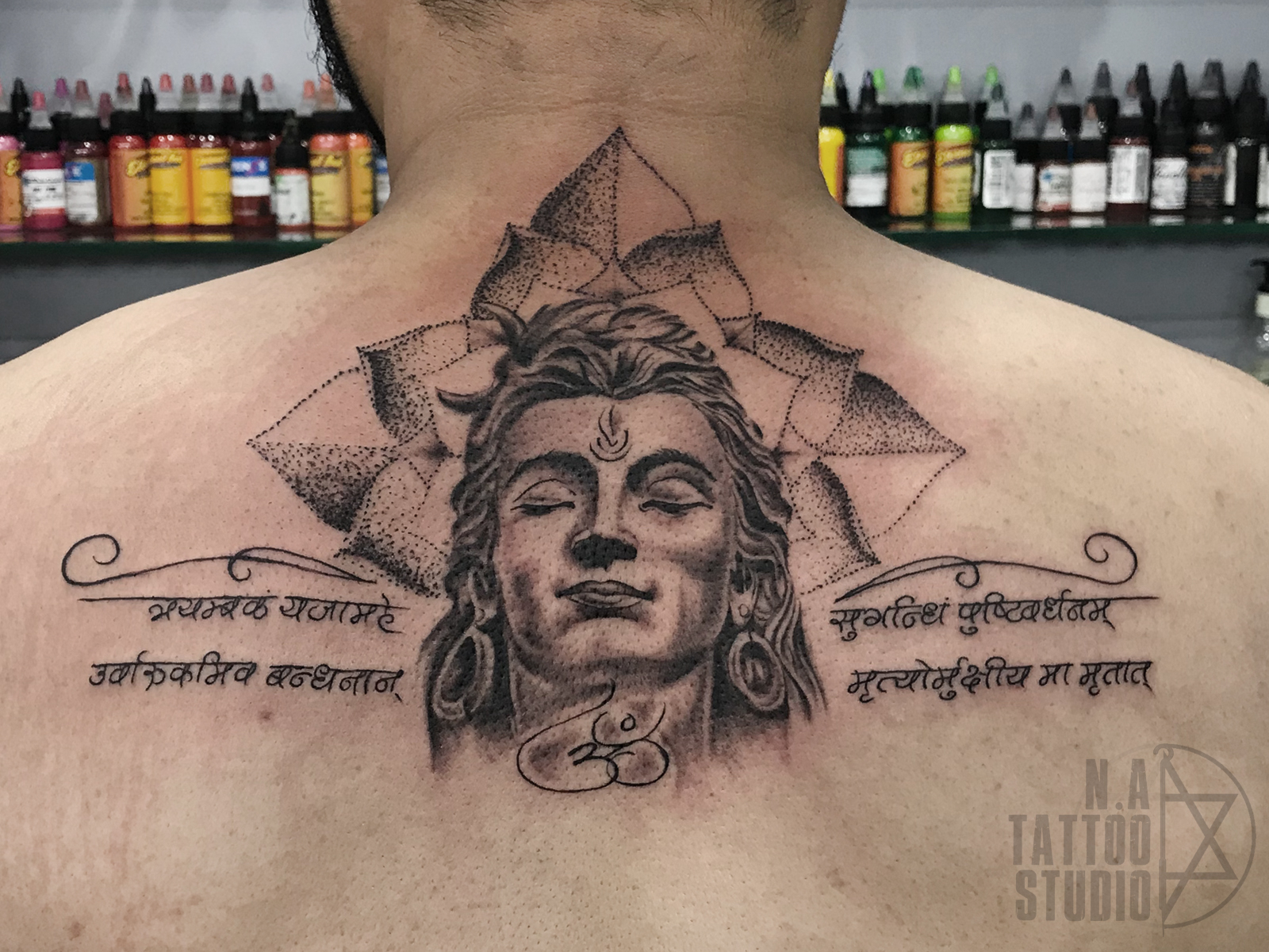 Lord Shiva tattoo natattoostudio