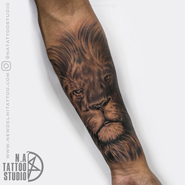 Lion Tattoo by abhishek