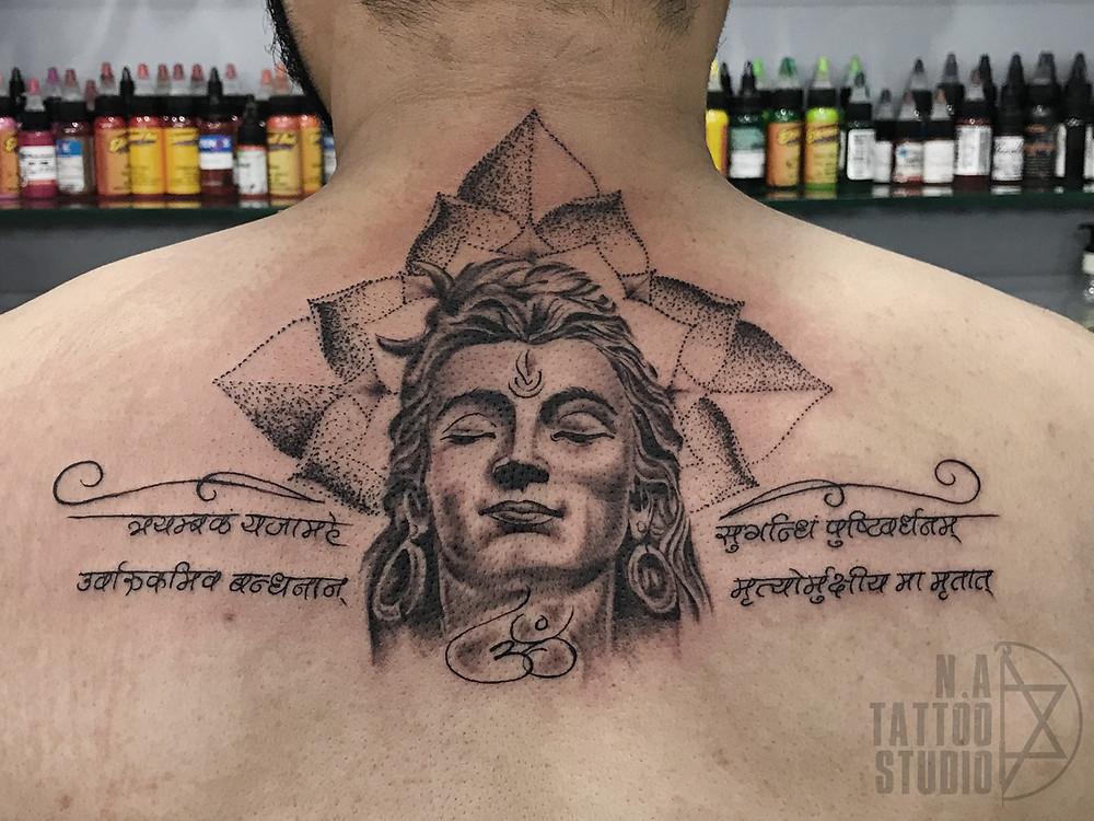 Lord Shiva tattoo by Abhishek Ahuja at N.A Tattoo Studio www.newdelhitattoo.com