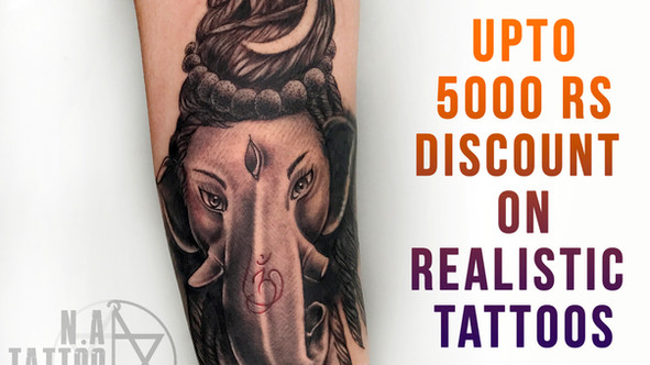 Upto 5,000 Rs Discount on Realistic Tattoos