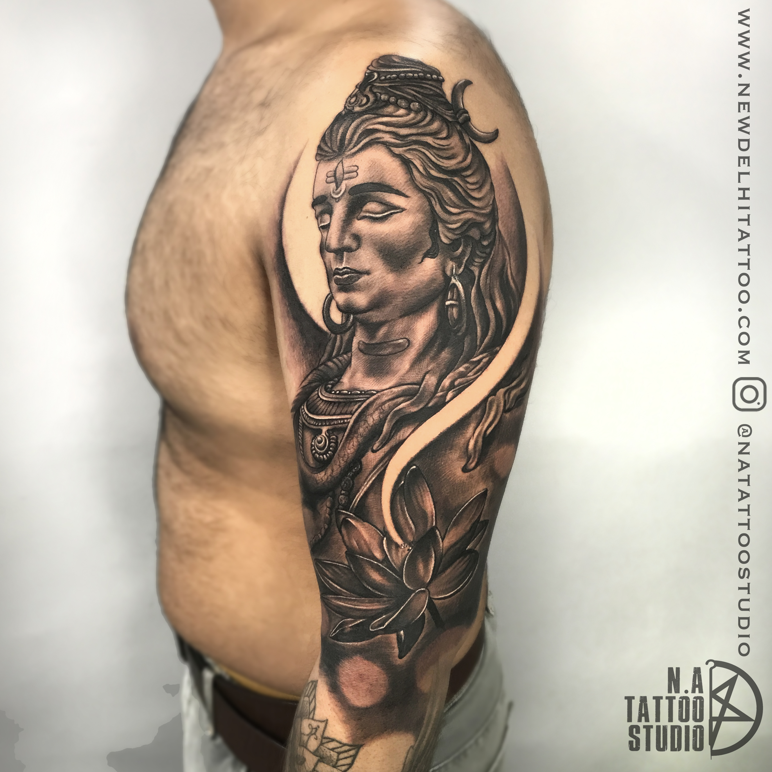 shiva tattoo sleeve design