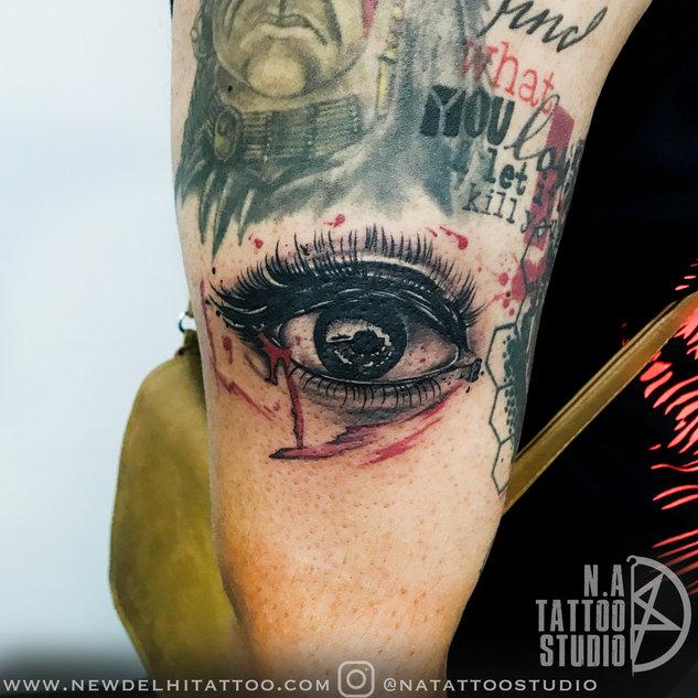 Eye-realistic-tattoo-by abhishek @natattoostudio new delhi
