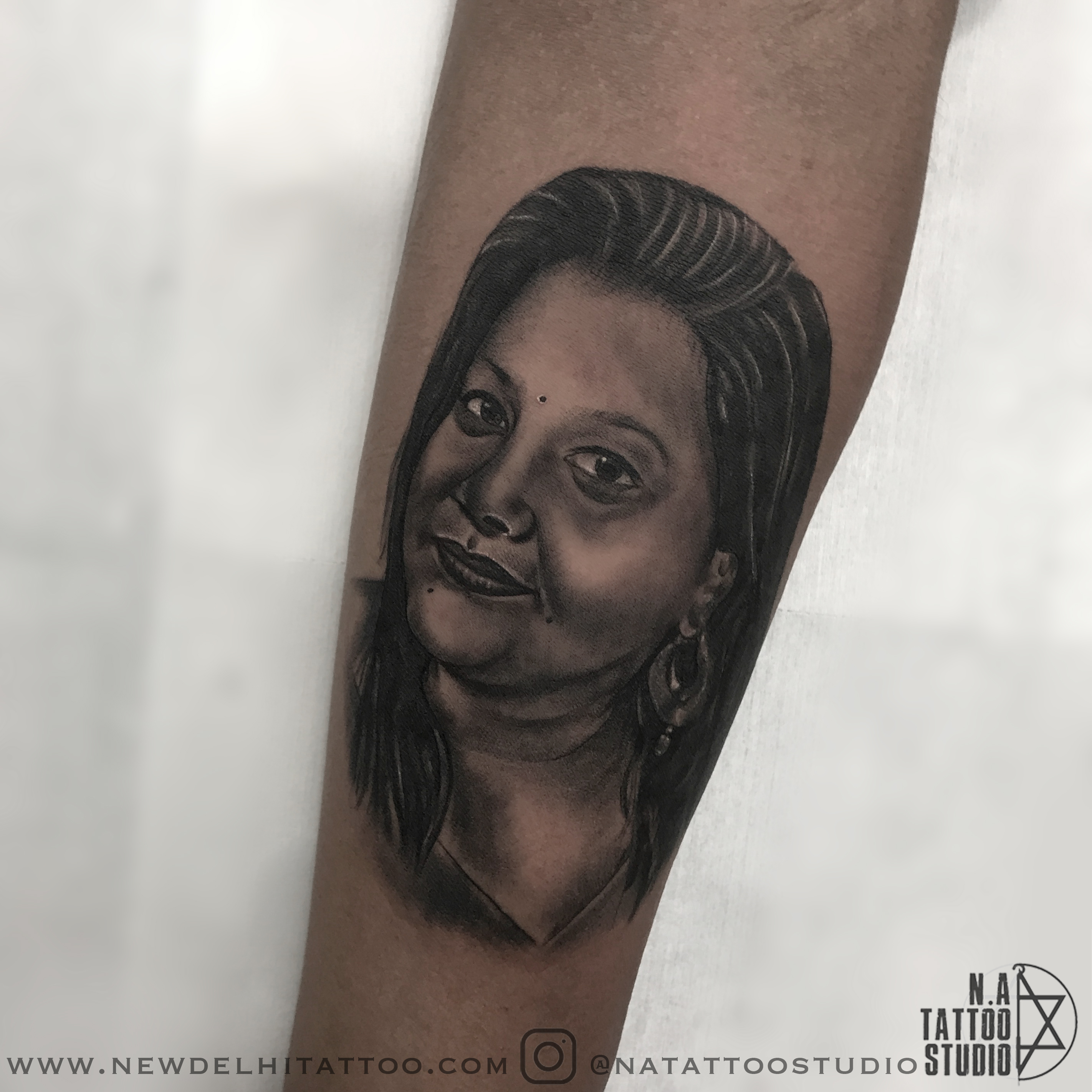 Portrait tattoo natattoostudio delhi