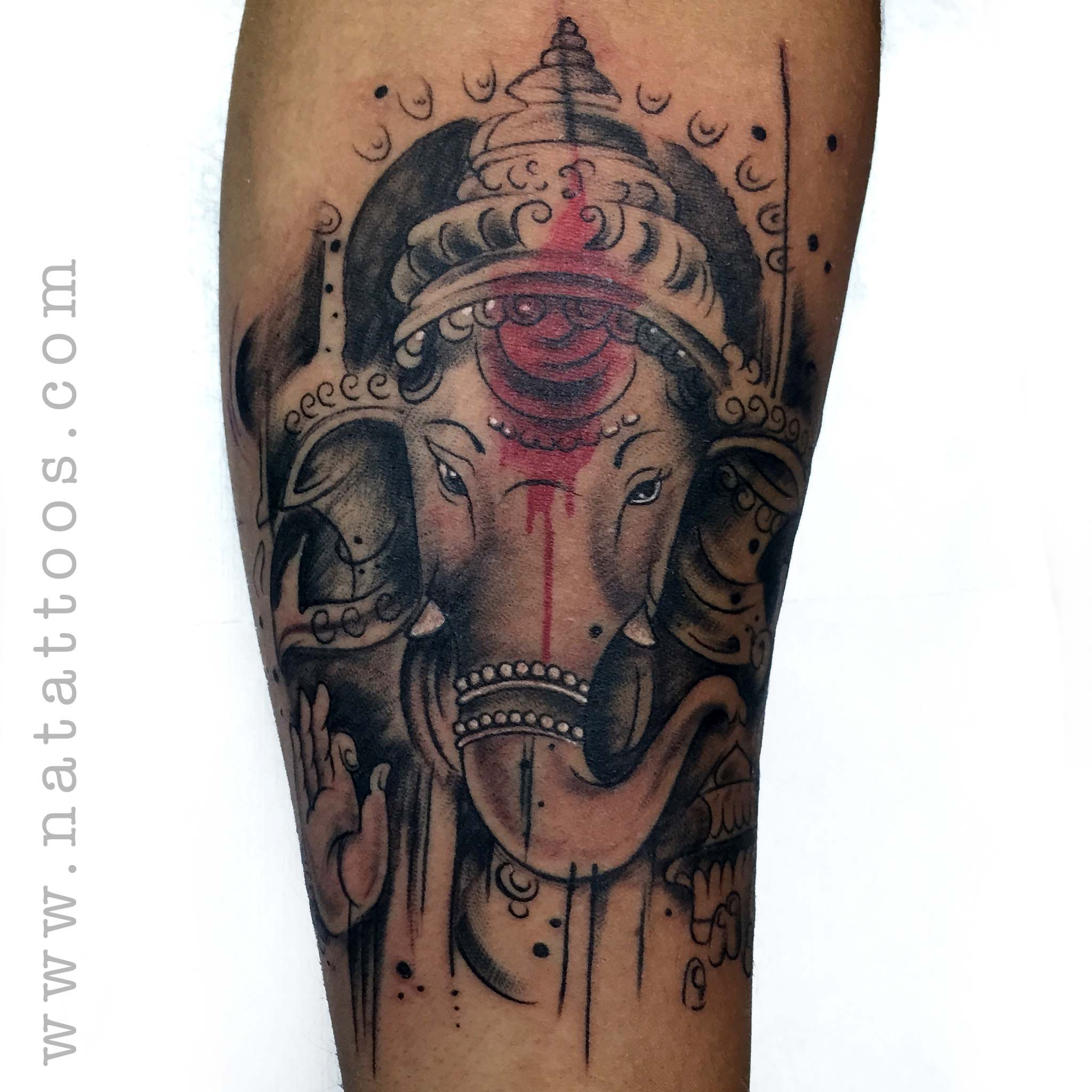 abstract ganesha tattoo