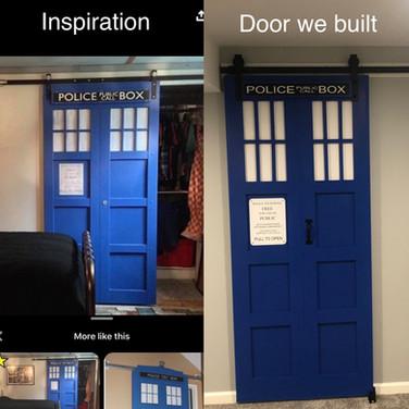 Custom Dr. Who Single Door