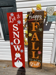 Let It Snow Happy Fall Porch Sign