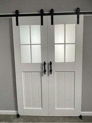 Three Brace Frosted Glass